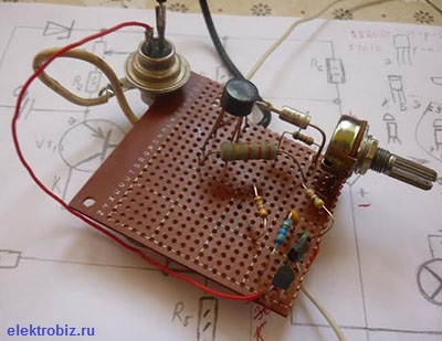 схема регулятора яркости света лампы накаливания