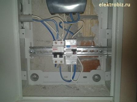 Дифференциальный автомат ABB установлен.  Работает!